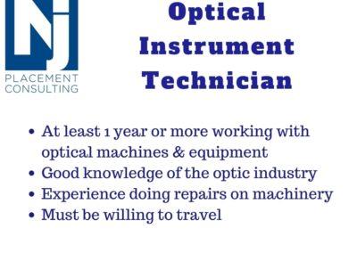 Optical Instrument Technician