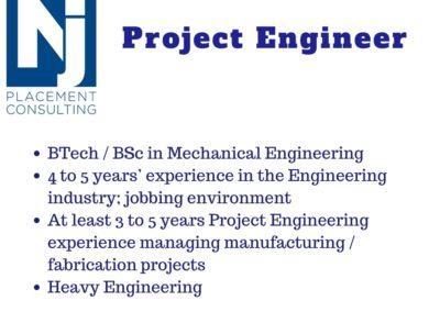 Intermediate Project Engineer – Heavy Engineering