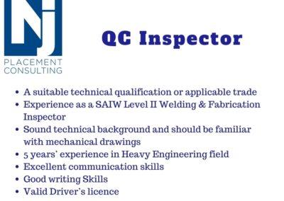 QC Inspector (Machinist)